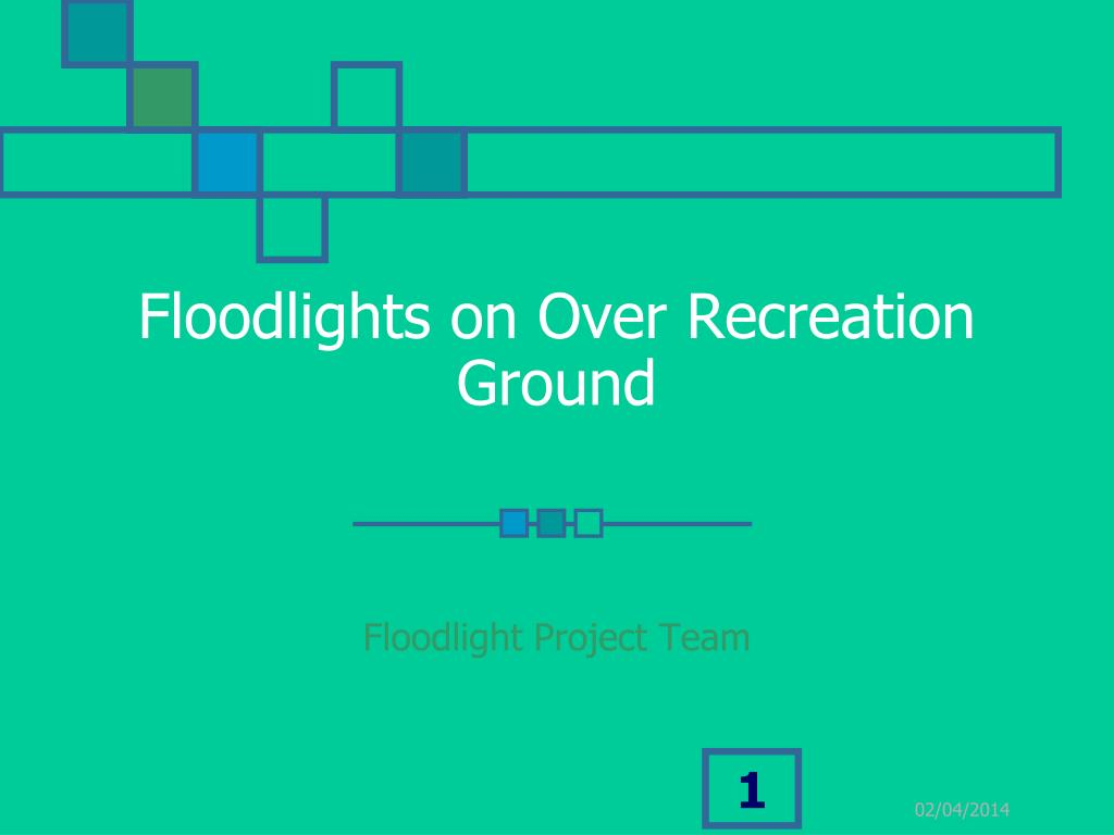 Floodlights on Over Recreation Ground