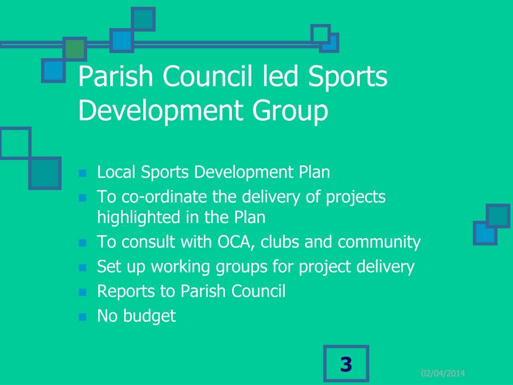 Parish Council led Sports Development Group