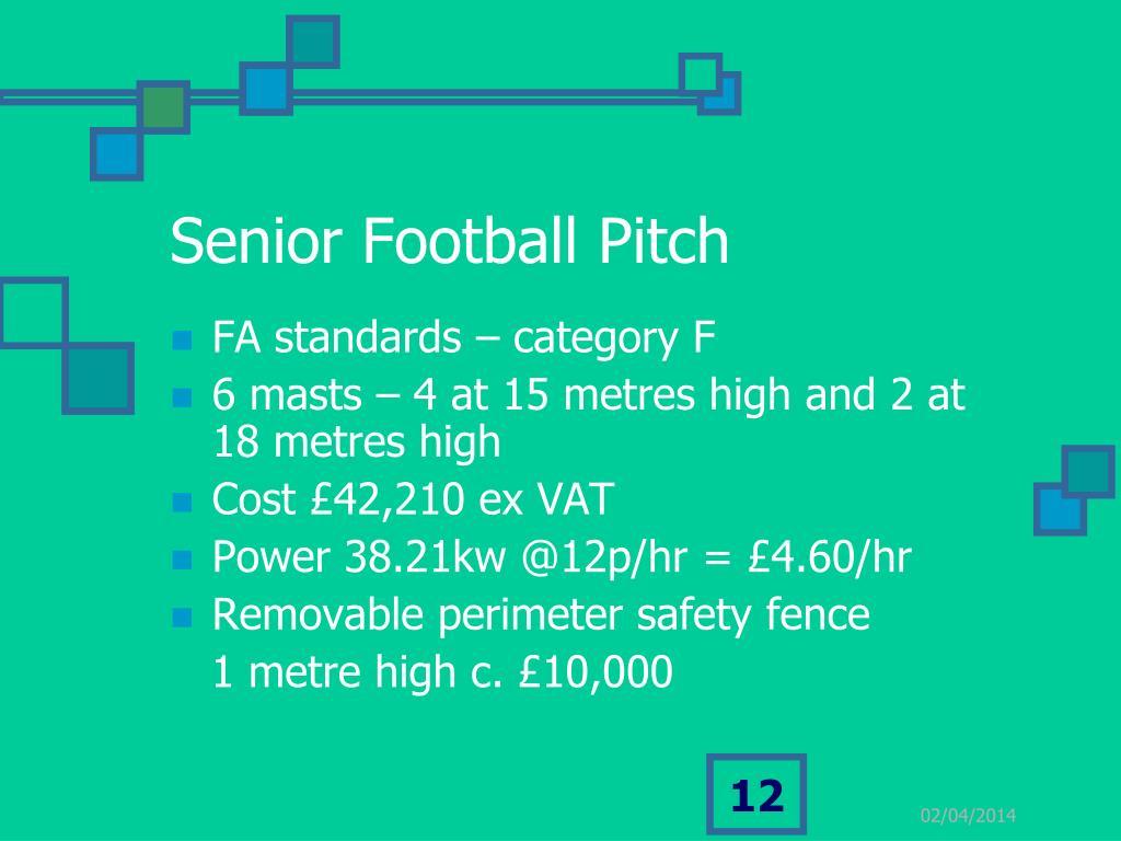Senior Football Pitch