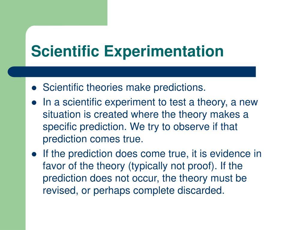 Scientific Experimentation