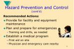hazard prevention and control cont d16