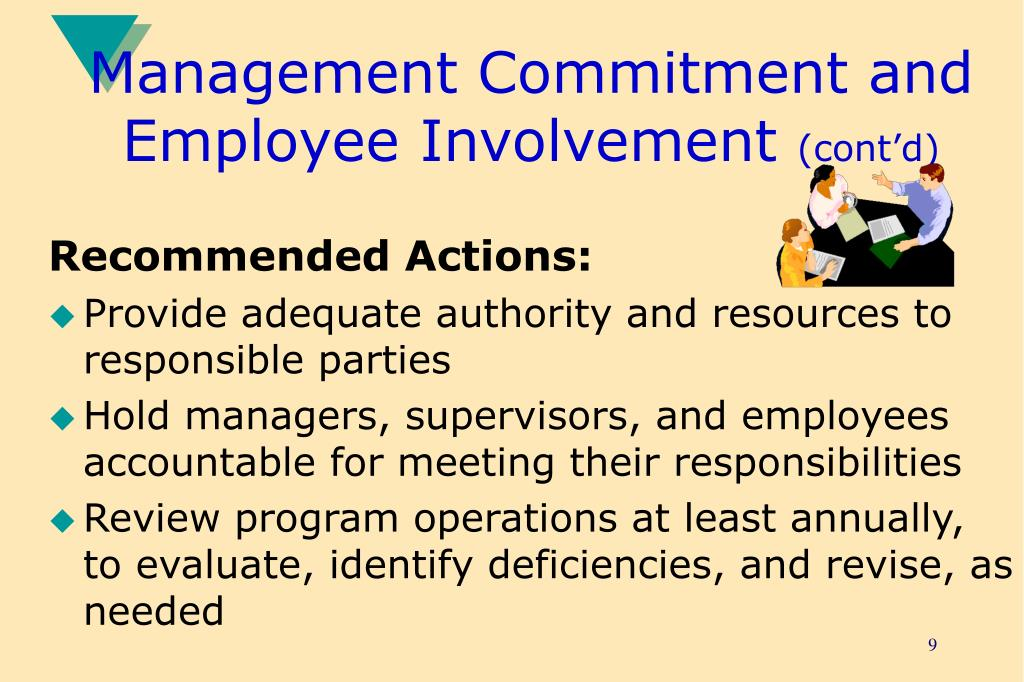 Management Commitment and Employee Involvement