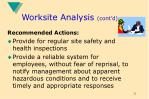 worksite analysis cont d12