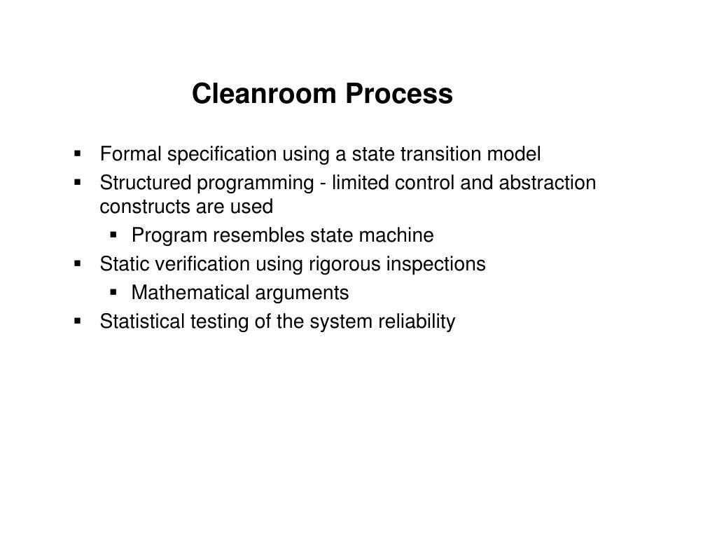 Cleanroom Process