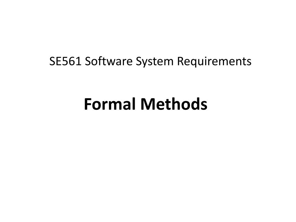 SE561 Software System Requirements