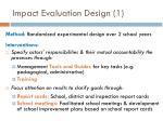 impact evaluation design 1