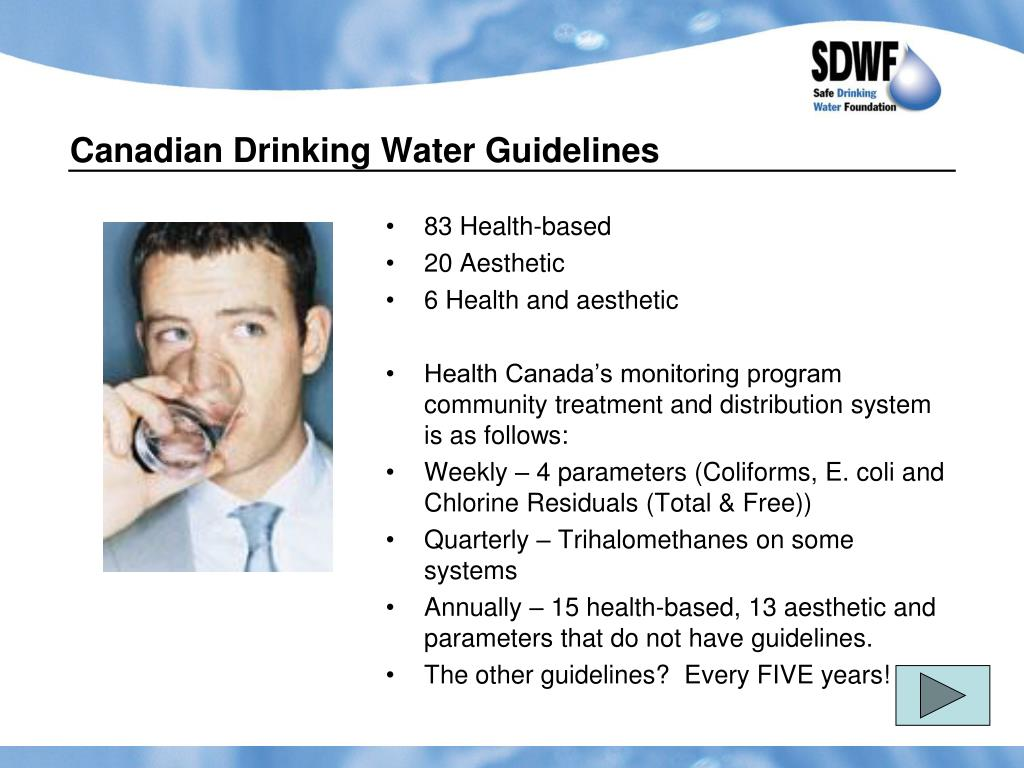 Canadian Drinking Water Guidelines