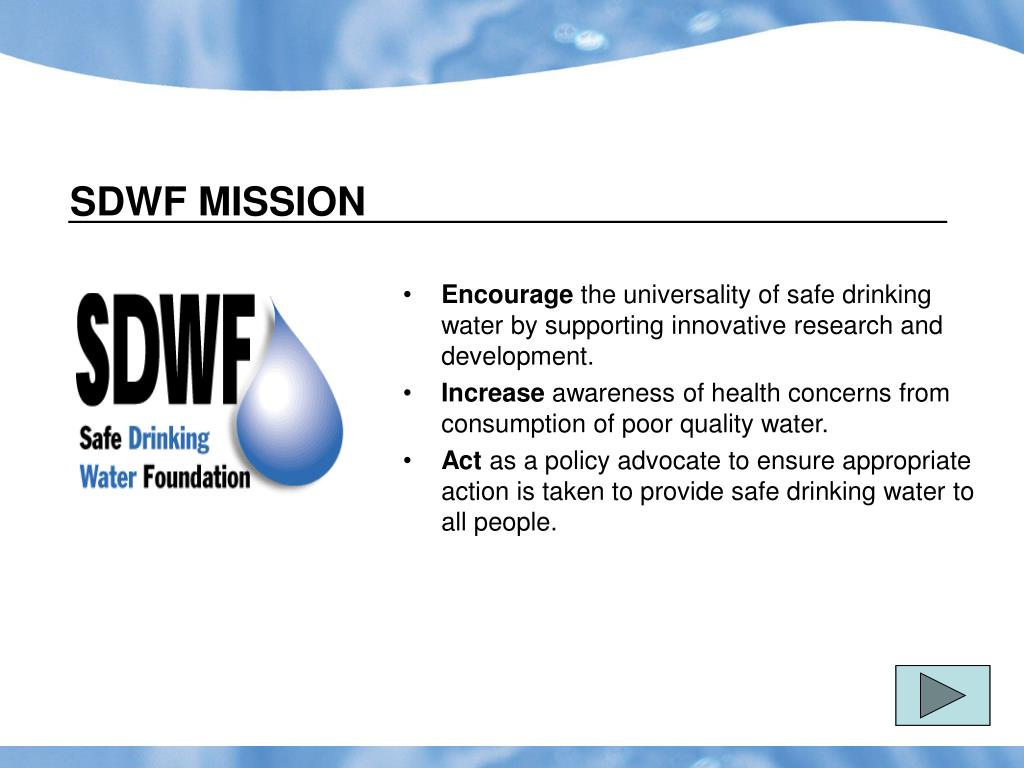 SDWF MISSION