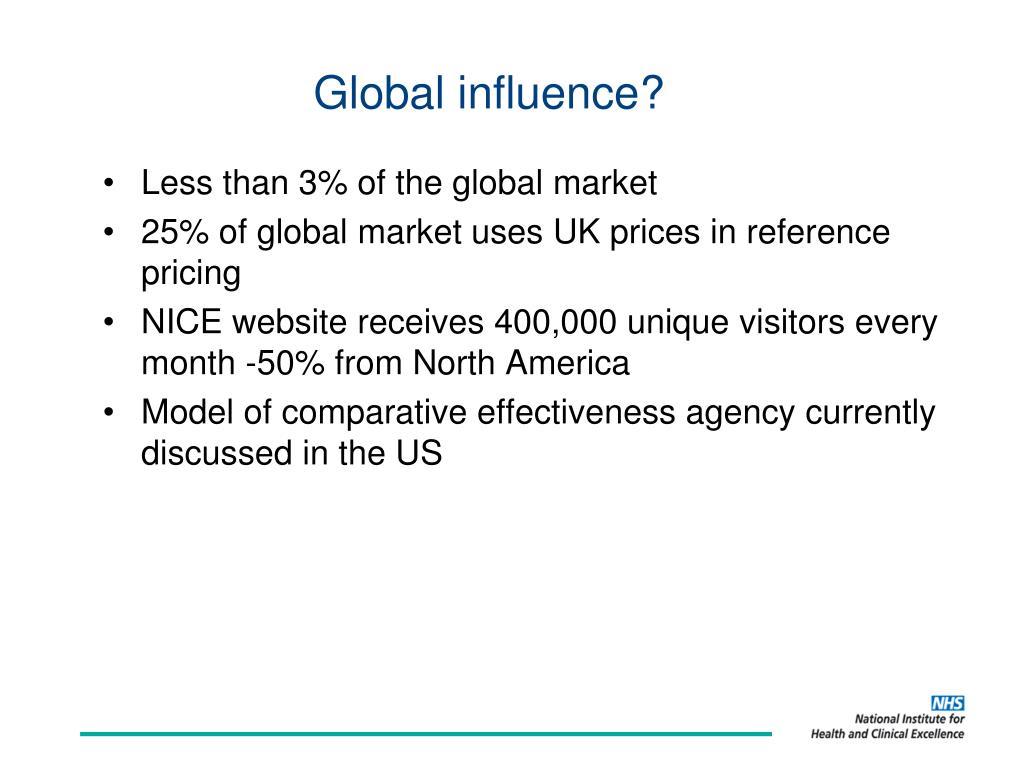 Global influence?