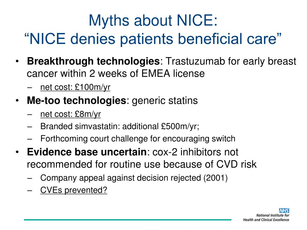 Myths about NICE: