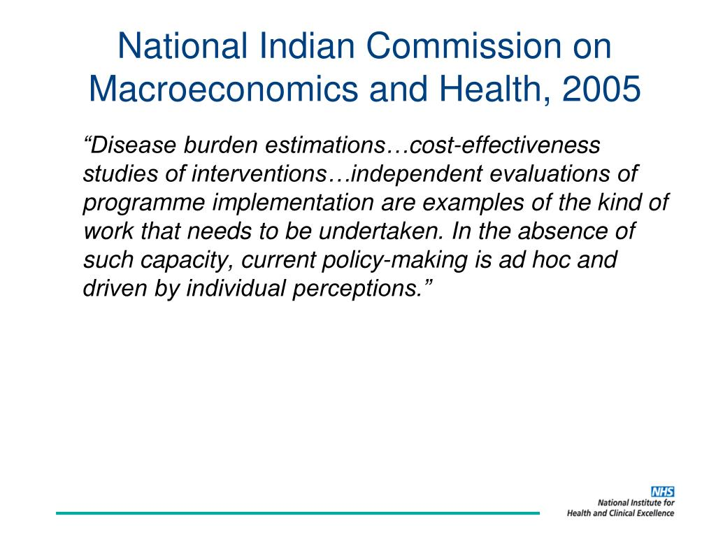 National Indian Commission on Macroeconomics and Health, 2005