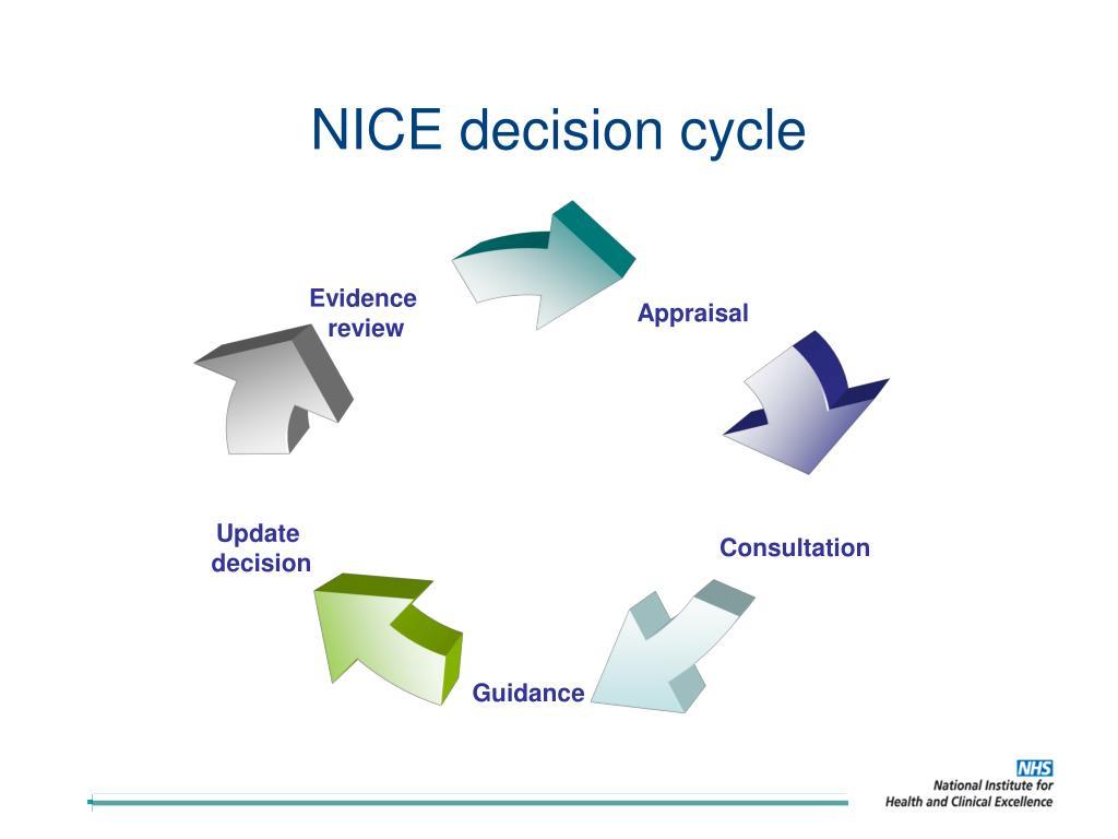NICE decision cycle