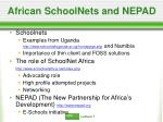 african schoolnets and nepad