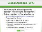 global agendas efa