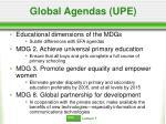 global agendas upe