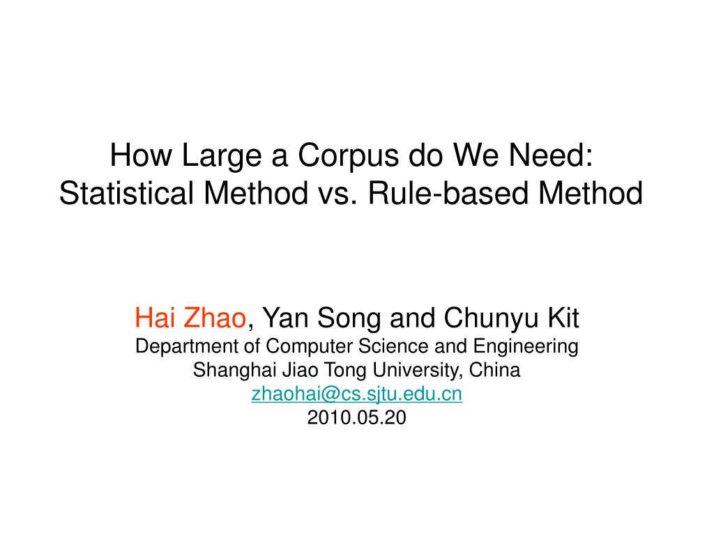How Large a Corpus do We Need: