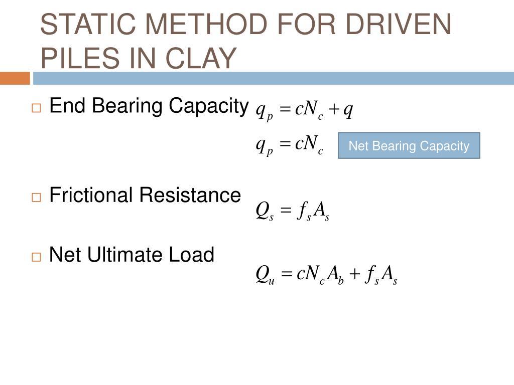 Load Capacity Formula