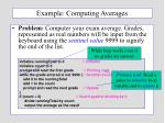example computing averages
