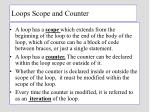 loops scope and counter