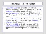 principles of loop design