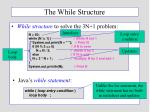 the while structure
