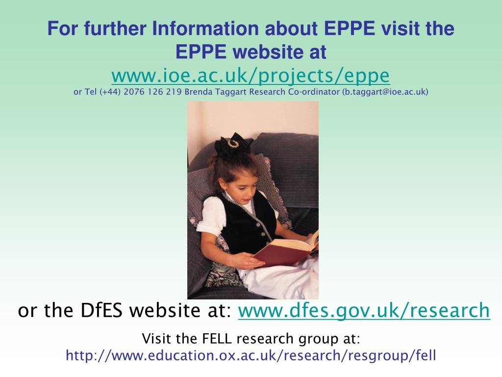 For further Information about EPPE visit the