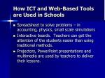 how ict and web based tools are used in schools21