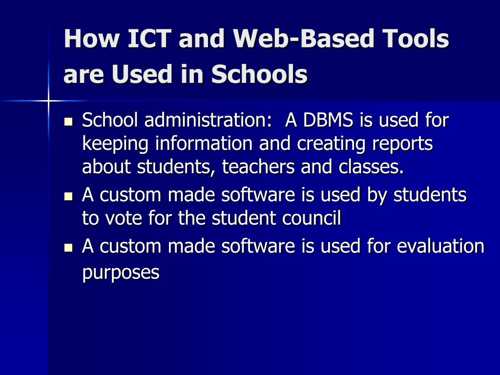 How ICT and Web-Based Tools are Used in Schools