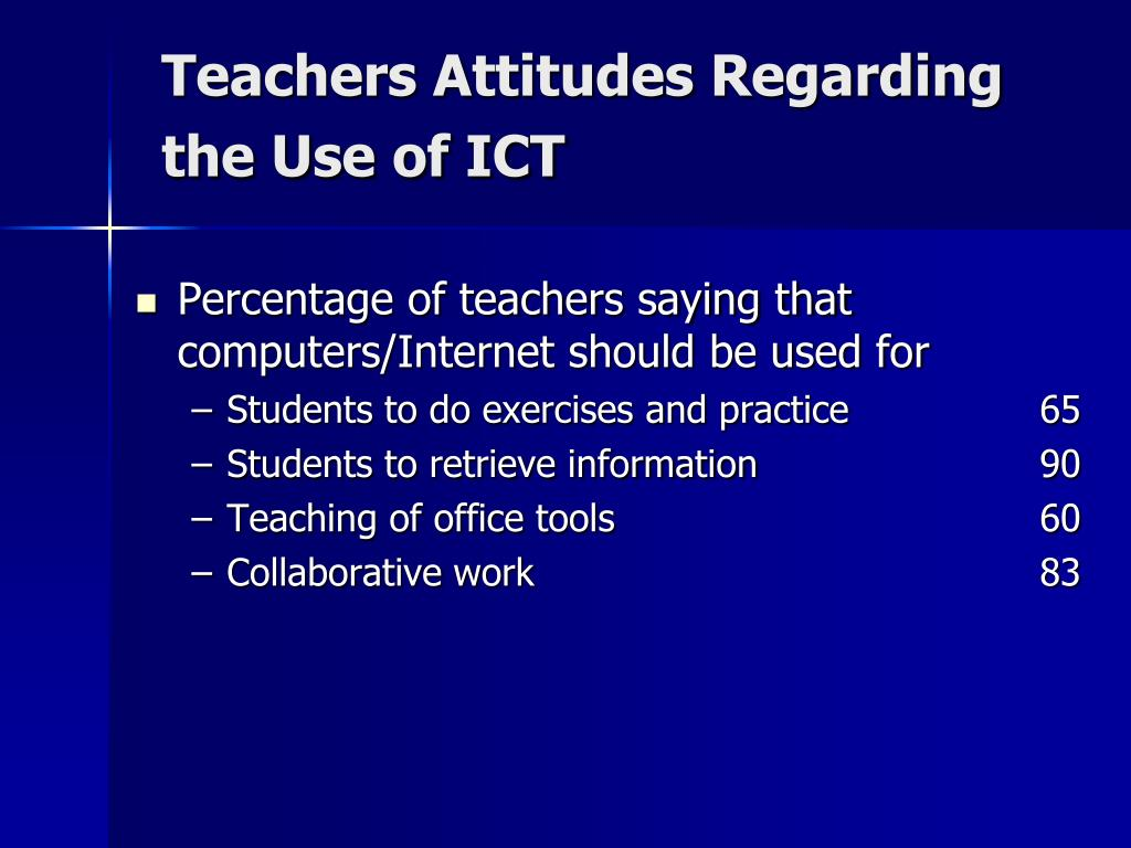 Teachers Attitudes Regarding the Use of ICT