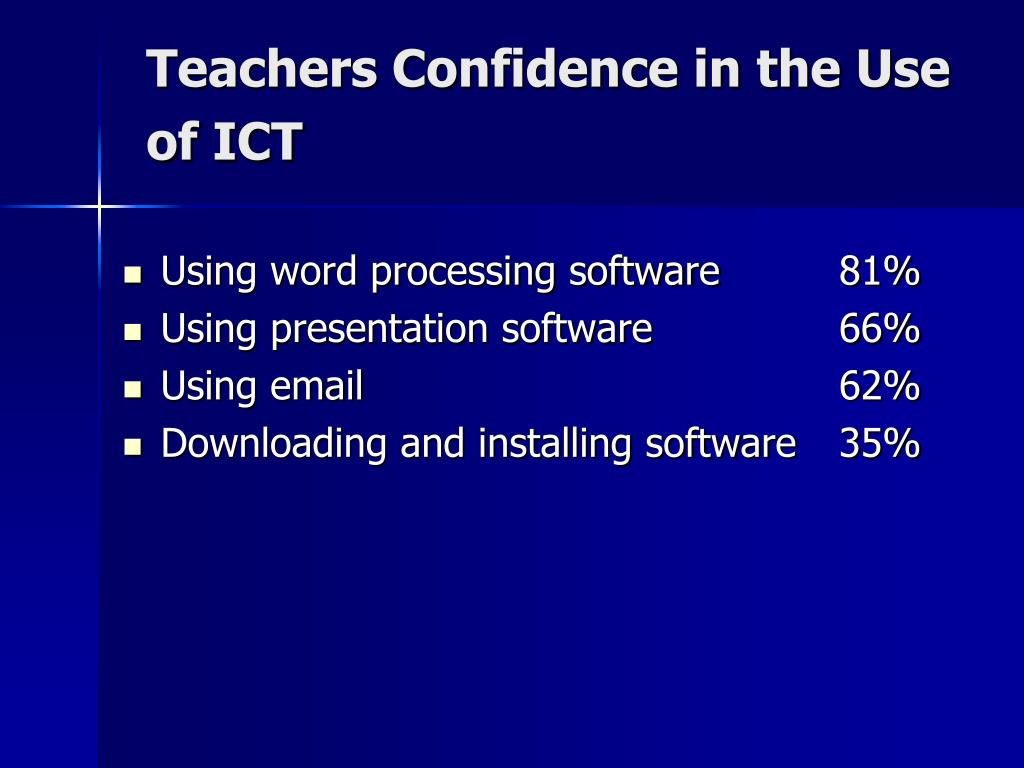 Teachers Confidence in the Use of ICT
