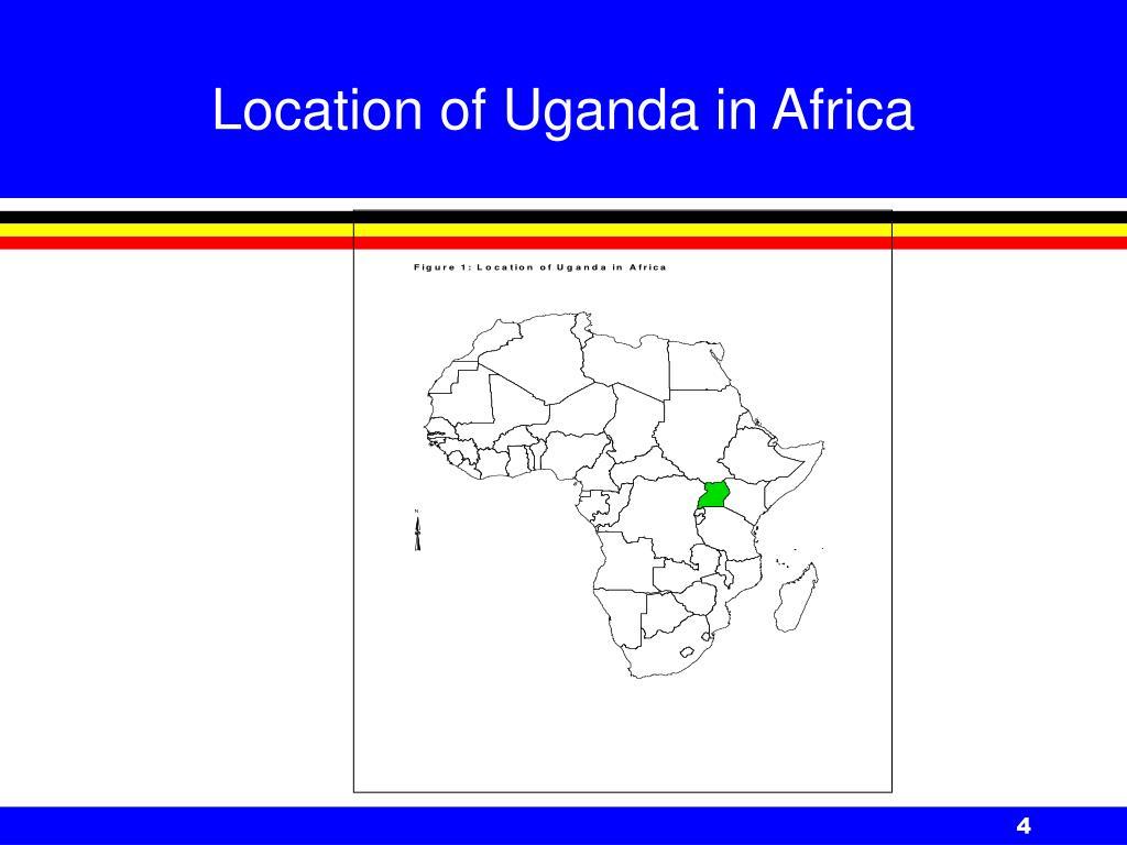 Location of Uganda in Africa