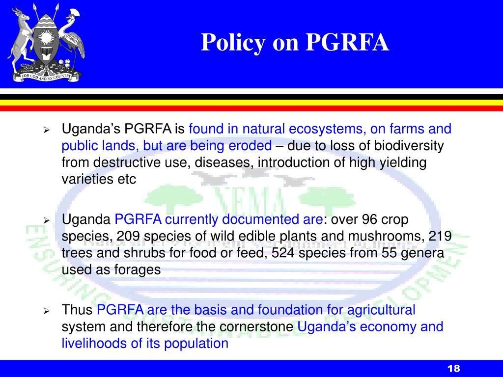 Policy on PGRFA