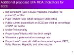 additional proposed efa mda indicators for ecce