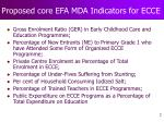 proposed core efa mda indicators for ecce