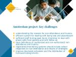 amsterdam project key challenges