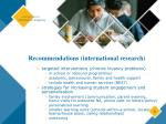 recommendations international research5