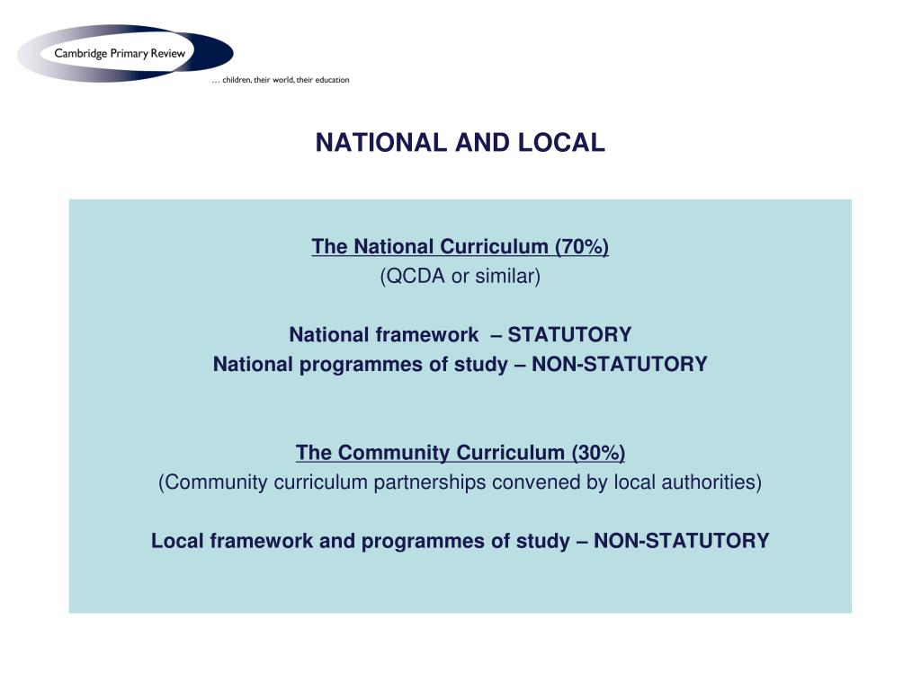 NATIONAL AND LOCAL
