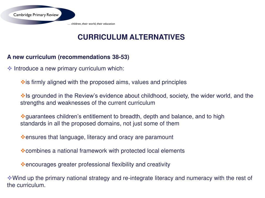 CURRICULUM ALTERNATIVES