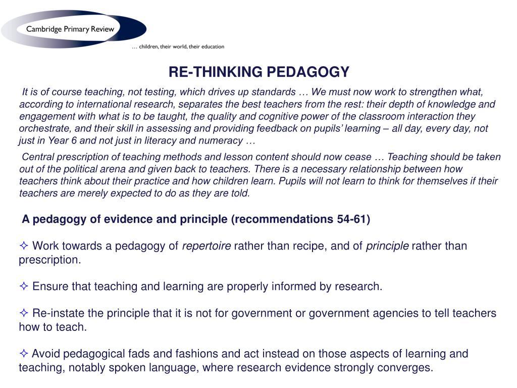 RE-THINKING PEDAGOGY