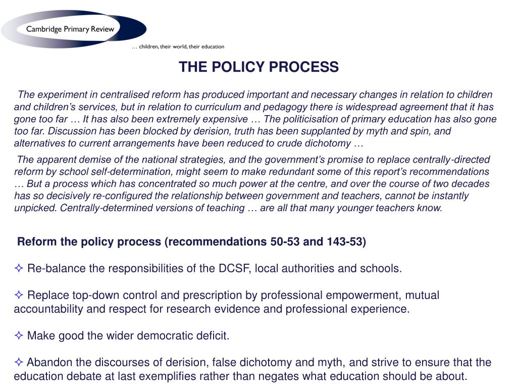 THE POLICY PROCESS