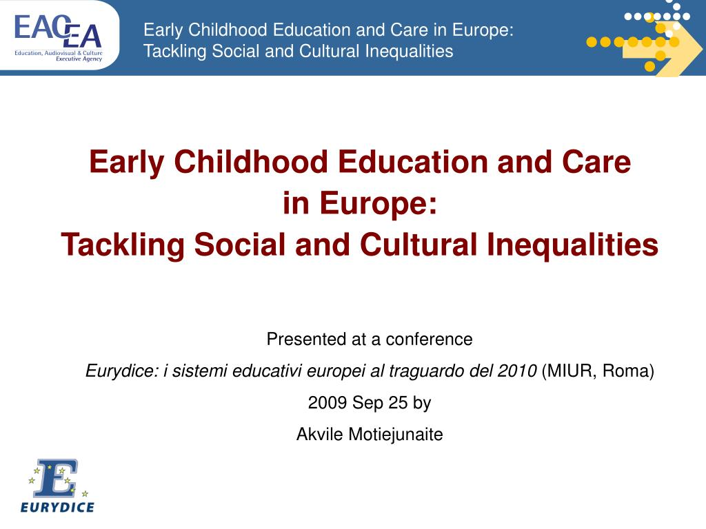 tackling social and cultural inequalities through early childhood education and care in europe l.