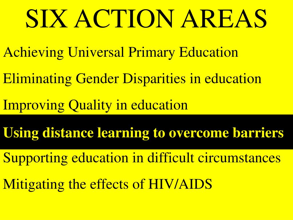 SIX ACTION AREAS