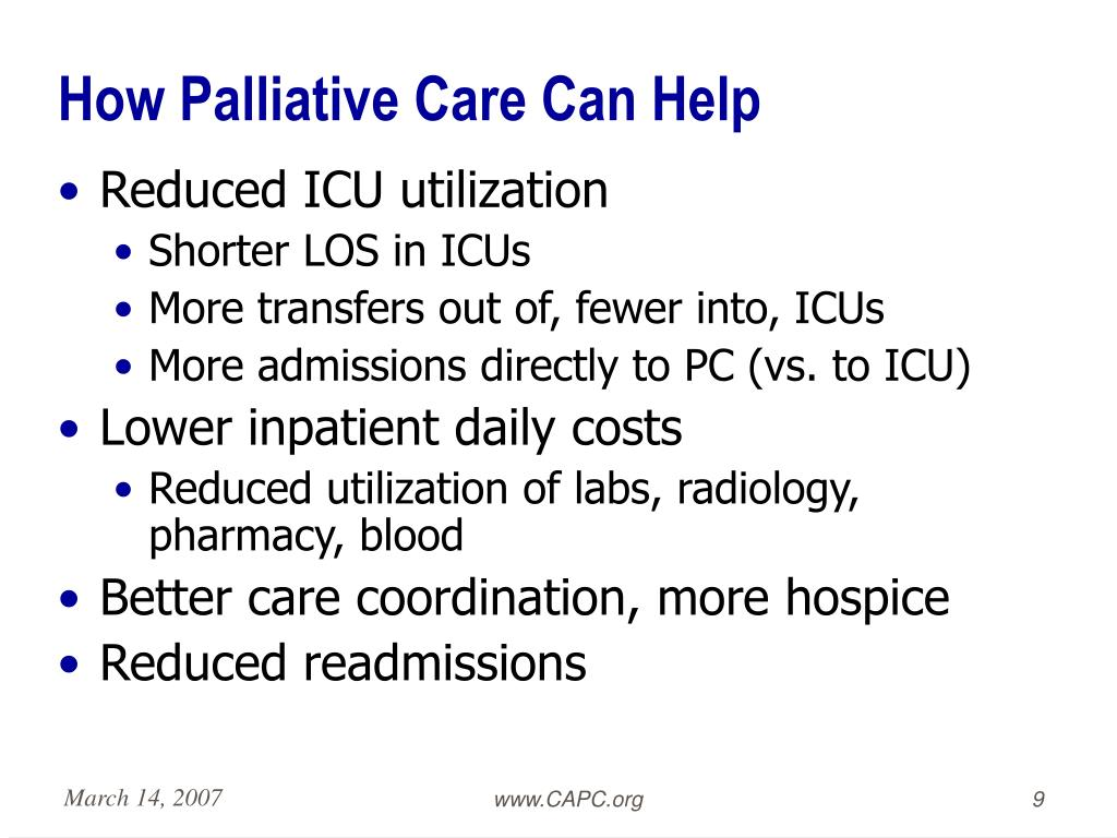 How Palliative Care Can Help
