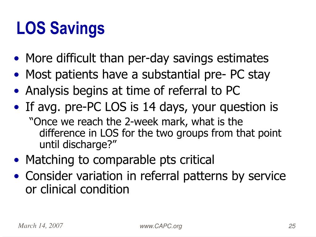 LOS Savings
