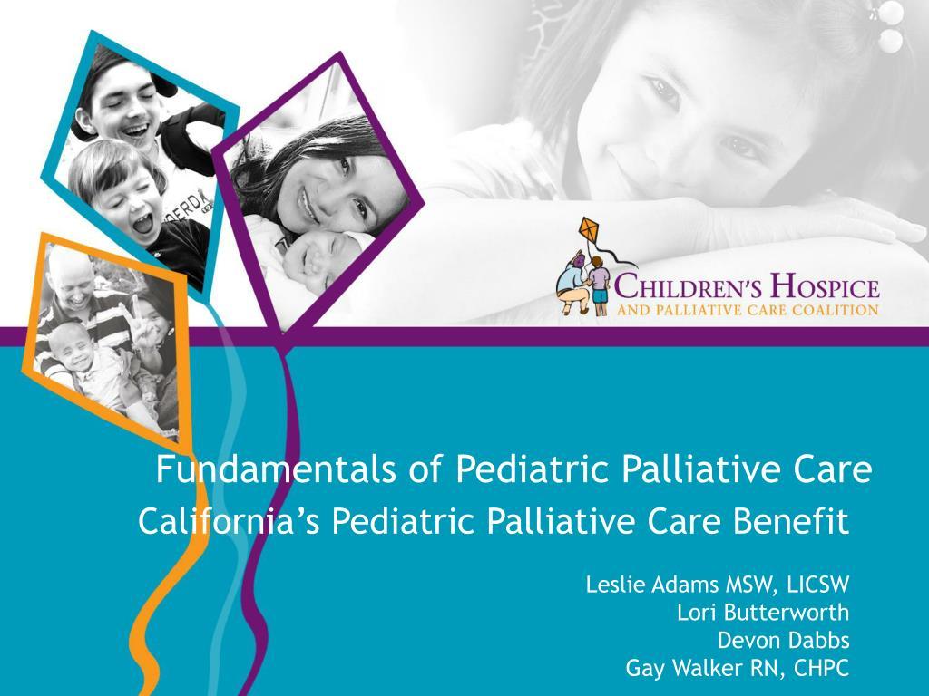 fundamentals of pediatric palliative care l.
