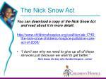 the nick snow act30