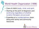 world health organization 1998