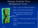 strategy avoid the case management cycle