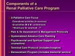 components of a renal palliative care program