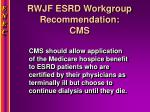 rwjf esrd workgroup recommendation cms